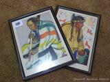 Two Native American Indian prints, Arrow Top and Lazy Boy. 12