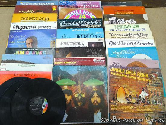 Records including Greased Lightning, Jim Reeves, Ray Price, Super Psychedelics The Ventures, more.