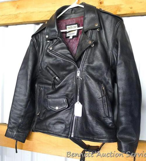 Wilson's Open Road leather biker's jacket is size Large. In nice condition with only a little wear
