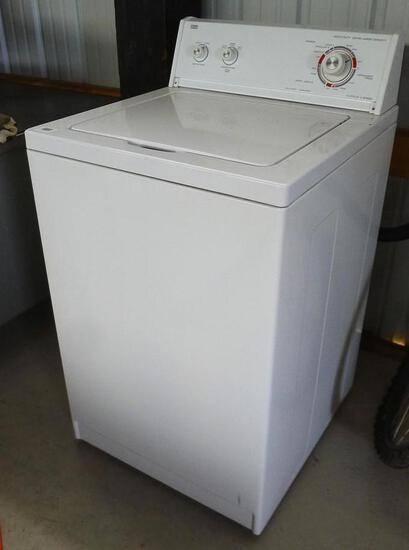 """Roper heavy duty extra large capacity clothes washer is 5 cycle, 2 speed. Measures 24"""" x 25-1/2"""" x"""