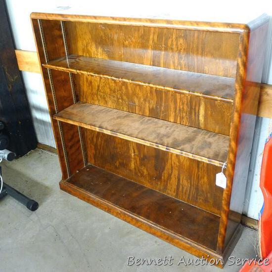 "Pretty two-shelf book case is about 41"" x 10"" x 42"" high. Shelves adjust, seven shelf brackets"