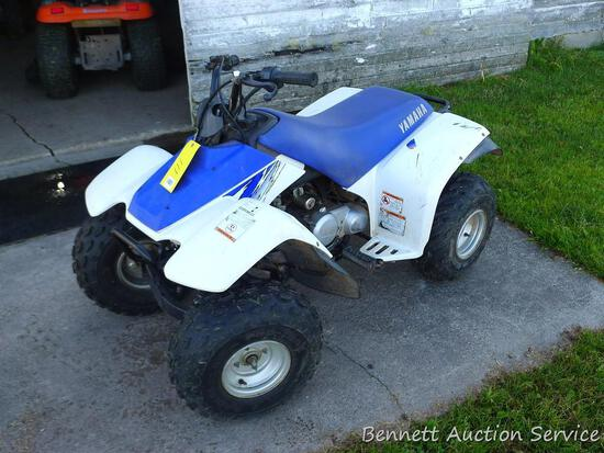2001 Yamaha Moto-4 youth four wheeler with 90cc engine.