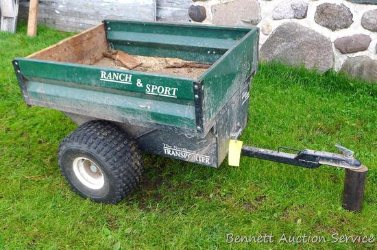 The Northern Transporter 'Ranch & Sport' heavy duty trailer has metal frame, wooden upper base and