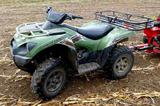 2012 Kawasaki KVF750G Brute Force four wheeler with V-Twin engine and power steering.