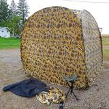 Ameristep Penthouse Pack-In hunting blind. Measures approx 76
