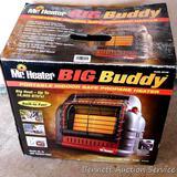 Mr. Heater Big Buddy portable LP heater looks to be NIB. Model No MH18B. Matches lot 150. Propane