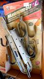 Two San Angelo gun racks, one NIP. Extendable pair opens to 17