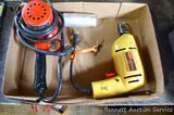 Milwaukee Heat Gun model 750-X, runs and heats; ShopMate variable speed 3/8