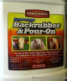 No shipping. Gordon's Backrubber & Pour-On fly/tick/lice control in 2.5 gallon containers. One is