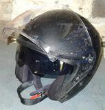 Motorcycle helmet Bilt Route DOT certified size L. Has built in ventilation and sun shield. This is
