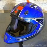 Dirt bike helmet, no size. Marked SXT-Y.