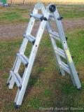 Cosco multi use ladder system can be used as a 17' extension, 7'4