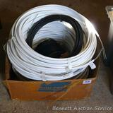 Partial rolls of 12.5 gauge double lead-out wire, rolls are 18