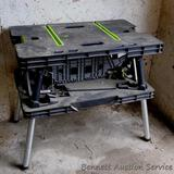 Keter folding work table has two 20