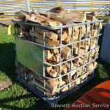 Metal crate filled with mixed firewood. Crate measures approx. 40