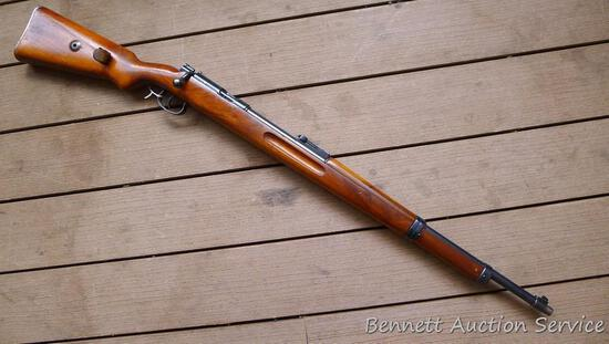 """Mauser .22 LR single shot rifle has an artillery sight and is perhaps a military training rifle. 26"""""""