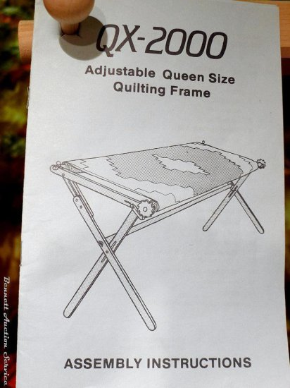 Queen size quilting frame. Hin... Auctions Online | Proxibid