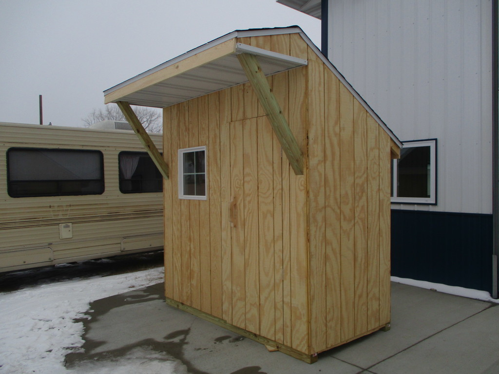 Lot: NEW- 4X8' SHED | Proxibid Auctions