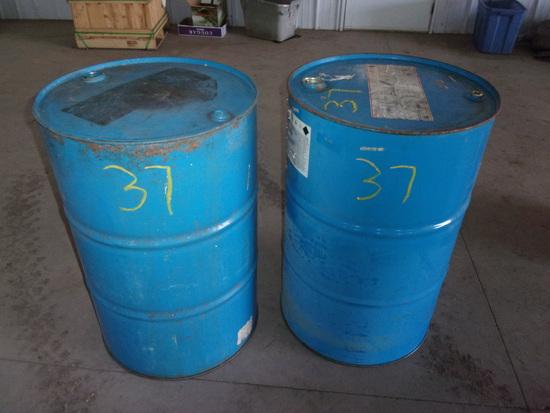 2- 55 GAL STEEL BARRELS