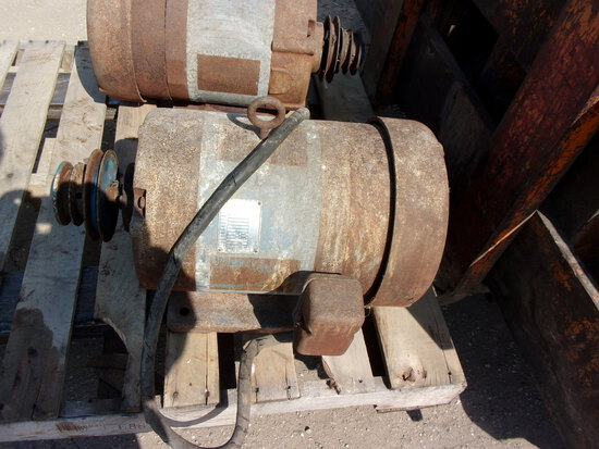 2-5 H.P. BALDOR 1720 RPM SINGLE PH. ELEC. MOTORS, haven't been used in some time
