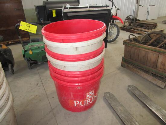 """7-PLASTIC TUBS (21"""" D., 17"""" deep)"""