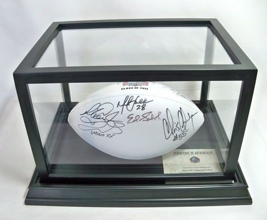 Autographed Class of 2011 HOF White Panel Football, 7 Signatures, COA