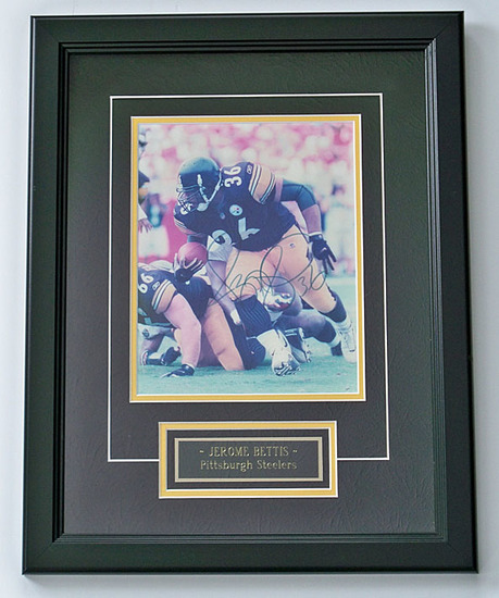 Jerome Bettis #36 Pittsburgh Steelers Autographed 8 x 10 Photo, COA