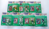 Lot of 7 Kenner Starting Lineup Football 10th Year 1997 Edition Action Figures, Unopened Blister Pkg