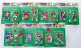 Lot of 7 Kenner Starting Lineup Football 10th Yr. 1997 Edition Action Figures, Unopened Pkgs.