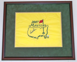 Arnold Palmer Autographed 2007 Masters Pin Flag, Framed, COA
