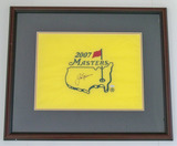 Jack Nicklaus Autographed 2007 Masters Pin Flag, Framed, COA