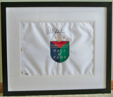 Phil Mickelson Autographed World Golf Hall of Fame Pin Flag, COA