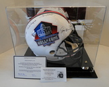 Full Size HOF Helmet W/ 5 Signatures; Brown, Dorsett Sayers, Starr, Hampton, Ticket, COA, Dis. Case