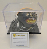 Pittsburgh Front Four Steel Curtain Signed Steelers Mini Helmet With Display Case, COA