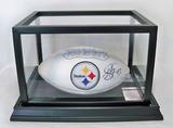 Steelers Full Size Football Autographed by Troy Polamalu #43, JSA COA