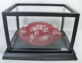 Brown Panel Baden Football W/ 5 Signatures: Taylor, Miller, Bell, Hayward, Harrison,, COA