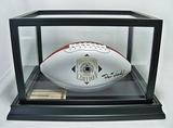Dan Dierdorf Autographed Pro Football HOF Collector's Edition White Panel Wilson Official NFL, COA