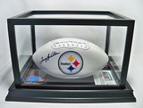 Terry Bradshaw Autographed Steelers Super Bowl White Panel Football, Photo, Trading Card, COA