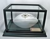 Mike Haynes Autographed Pro Football HOF Collector's Edition White Panel Wilson Football, COA
