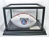 Harry Carson Autographed Pro Football HOF White Panel Wilson The Duke NFL Football, COA