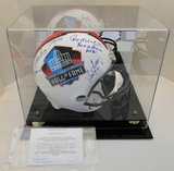 Full Size HOF Helmet, Signed By 12 Hall of Famers, COA, Display Case, Photos
