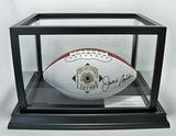 Jackie Smith Autographed Pro Football HOF Collector's Edition White Panel Wilson Football, COA