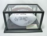 Pro Football HOF Class of 2015 Autographed White Panel Football, 7 Signatures, COA