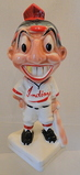 Cleveland Indians Chief Wahoo Bank or Razor Disposal With Gold Tooth, Stanford Pottery, Sebring, OH