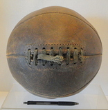 Antique 1920's Leather Lace Up Basketball