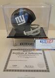 Y. A. Tittle Signed New York Mini Helmet W/ COA & Display Case