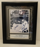 """Y. A. Tittle Signed Black & White 8"""" X 10"""" Iconic Photo, Framed & Matted, COA"""