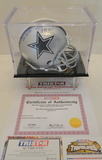 Walt Garrison Signed Dallas Mini Helmet W/ COA & Display Case