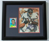 Walter Payton #34 Chicago Bears Autographed 8 x 10 Photo W/ Topps Archive Reserve Trading Card, COA