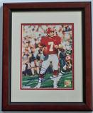 Joe Theismann #7 Washington Redskins Autographed 8 x 10 Photograph, COA